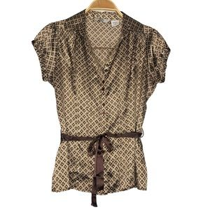 Quizz Trends Button Down Short sleeves Blouse